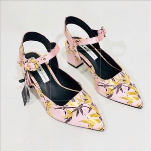 Zara bock heeled sandals
